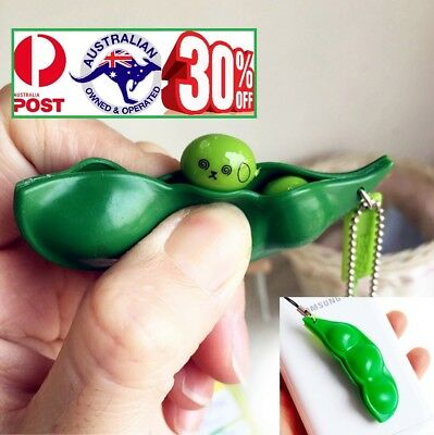 Anti Stress Fidget Squeeze Bean Squishy Toy Pendant Key ring Pokebean Gadget