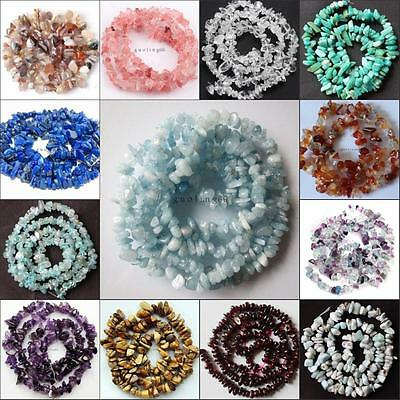 "Natural Freeform loose beads strand  gemstones DIY jewelry making 16"" 5-8mm"