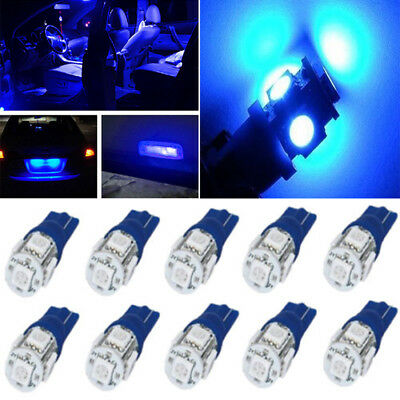10x T10 5 SMD LED Blue Super Bright Car Lights Bulb W5W, 194, 168, 2825 Replaces