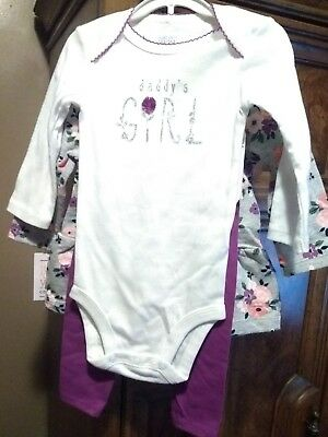 3 piece set girls  outfit Just one you made by Carter. 6 months
