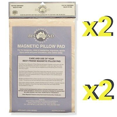 2 x Best Friend Magnetic Pillow Pads -Therapy Sleep Pain & Ache Relief *Get two*