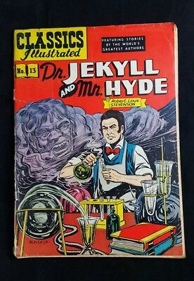 CLASSICS ILLUSTRATED No 13 Dr. Jekyll and Mr. Hyde