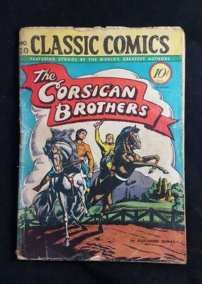 Classics Illustrated Comic Book No 20  The Corsican Brothers 1st Issue Canadian