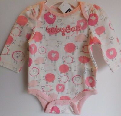 NWT Gap Baby Girl Bodysuit Christmas Tree Merry /& Bright Size 3-6M New Free Ship