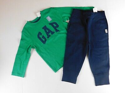 NWT Gap Baby Boy 2 Pc Outfit Red Sweater//Blue Joggers 6-12M MSRP$52 New