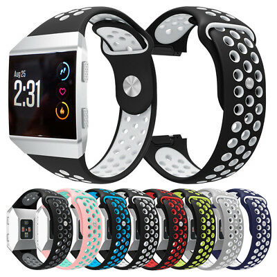 New Fashion Double Color Sports Silicone Bracelet Strap Band For Fitbit Ionic