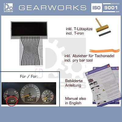 Gearworks Display Mercedes E-Klasse W210/s210 Kombiinstrument Lcd Links V3