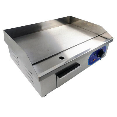 Electric Griddle Large Hotplate Chip Fryer Commercial Grill Bacon Egg Fryer 3KW