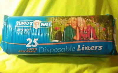 """225 Comfort Wear Disposable Liners 4""""x 10"""" =(9 packs × 25pads ea)"""