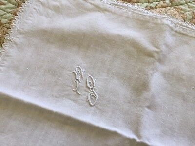 "French 100% Floppy Linen Off White Rustic Alpine 24"" X 26 Throw Pillow Lace Sham"