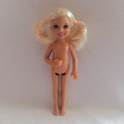 NEW Barbie Little Sister Chelsea Doll Blonde Hair Blue Eyes Pigtails ~ Nude