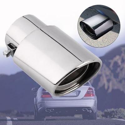 Chrome Straight Car Exhaust Pipe Rear Muffler Stainless Steel Tail Throat