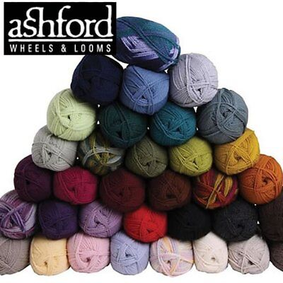 Ashford TEKAPO 8ply 100% wool yarn for weaving & knitting