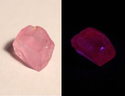 AAA Mahenge Hot Pink Spinel Rough 1.6ct Clean Rare Fluorescent Pink Spinel