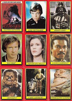 Star Wars - Jedi (ROTJ) Series 1 - Complete Card Set (132) - 1983 Topps - NM