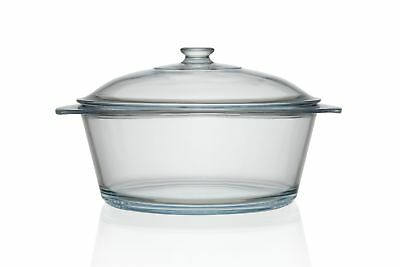 Pyrex 3.5L Glass Round Casserole with Lid