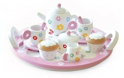 Indigo Jamm - Flower Party Tea Set Educational Wooden Toy