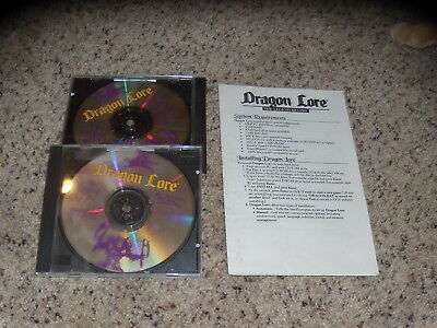 Dragon Lore: The Legend Begins (PC, 1994) Near Mint with manual