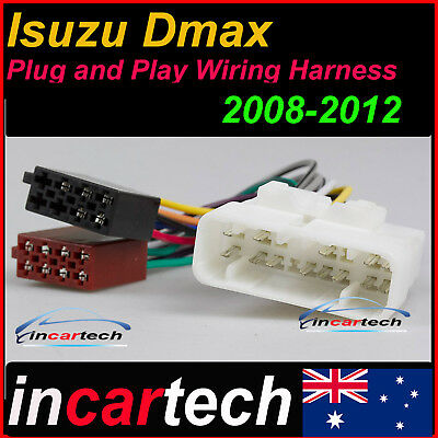 ISO WIRING HARNESS for ISUZU D-MAX DMAX 2008-2016 cable connector lead loom