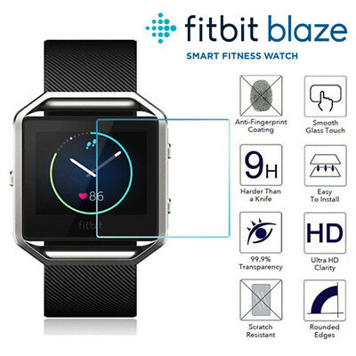 2x For Fitbit Blaze Tempered Glass LCD Screen Protector Cover Film Fitness Watch