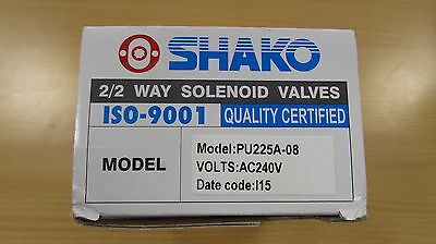 Shako 2/2 Solenoid Valve PU225A-08 AC240V ISO-001 IP65 Ex-Prof Coil with CE