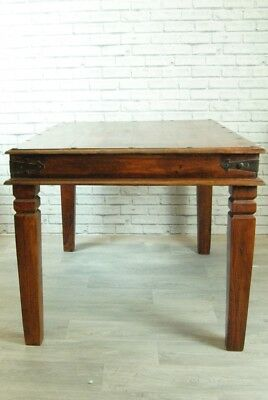 Dark Hardwood Dining Table 120x90cm Indian Red Wooded Stud