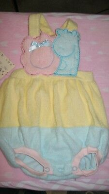Vintage Carters Brand Baby Girl Terrycloth Sun-Suit 12 Months Nwt Nordstrom