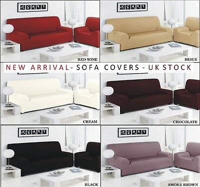 CLEARANCE Sofa Slip Over Stretch Cover Settee & Arm Chair 1/2/3Seater Protector