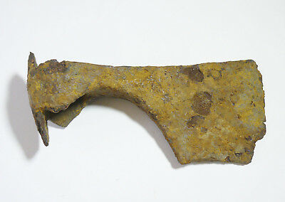 Antique Excavated Ancient Iron Battle Axe Kievan Rus Viking 10-13 AD Byzantine