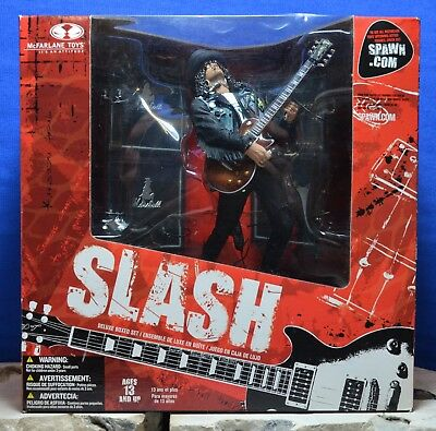 Guns N' Roses SLASH Figure with Amps - Deluxe Box Set - McFarlane Toys 2005