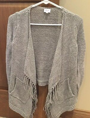 Justice Girls Sweater - Sz 12 - Grey With A Little Silver Shimmer