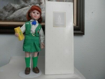 1995 Avon Porcelain Girl Scout Doll with Original Box, Made in China