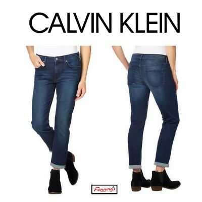 *NEW!* Calvin Klein Ladies Slim Boyfriend Jeans VARIETY Size & Wash!