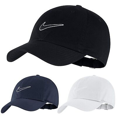 Nike Mens Swoosh Heritage86 Sports Peak Cap Baseball Hat Logo Adjustable Running