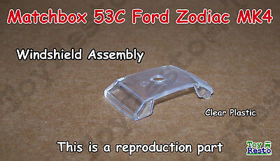 53C Ford Zodiac MKIV Clear Windshield Assembly