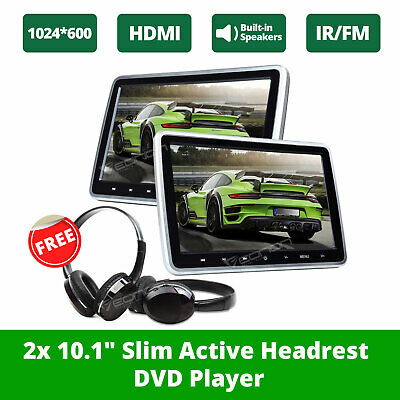 "Eonon C1100A 2x10.1""Car Headrest DVD Player 2xIR Headphones IR/FM Headset LCD"