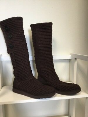 e9c92a3af66 UGG CLASSIC CARDY Tall Knit Brown boots size 10 - great condition!