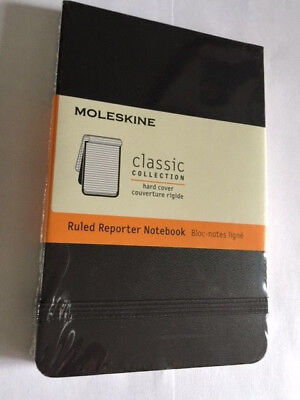 NEW Moleskine Ruled Reporter Notebook Hard COVER SEALED 5489 SEALED