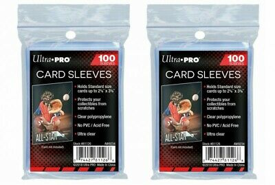 Ultra pro Lotto di 2 x 100 Buste Protezioni Carte 200 Store Safe Sleeves Jcc
