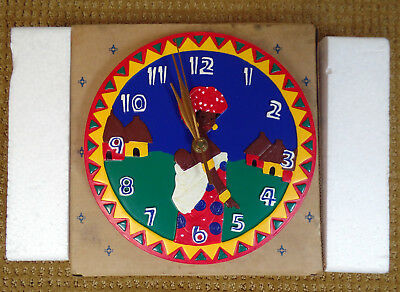 African Village Clock by Avon New in Box Discontinued