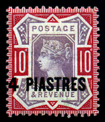 British PO in Turkey Levant 1896 4pi on 10d Car Rose & Lil SC# 7. SG 7. MH