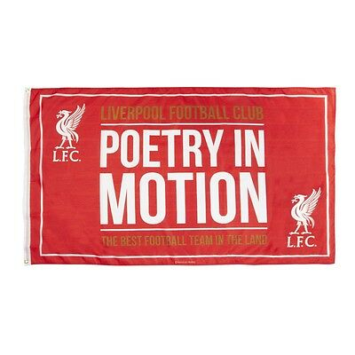 LIVERPOOL FC OFFICIAL POETRY IN MOTION RED FLAG 150x90cm BNWT SHOW YOUR COLOURS!