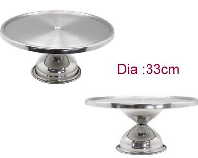 New 33cm Stainless Steel Dessert Cake Stand Wedding Party Decor Plate Stand