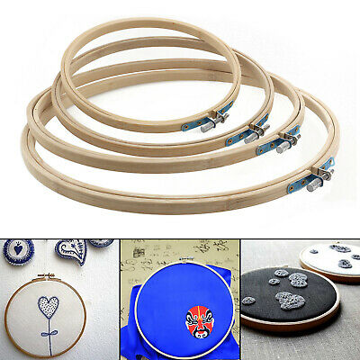 4PCS 17/20/23/26cm Round Natural Wooden Embroidery Cross Stitch Ring Hoop Frame