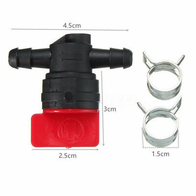 "Clamps Off 1/4"" Mower Valve 1/4"" Cut Comes Inline 2 Shut Fuel W/ Id Straight"