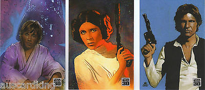 Star Wars - 30th Anniversary - Complete Bonus Chase Card Set (3) - 2007 - NM