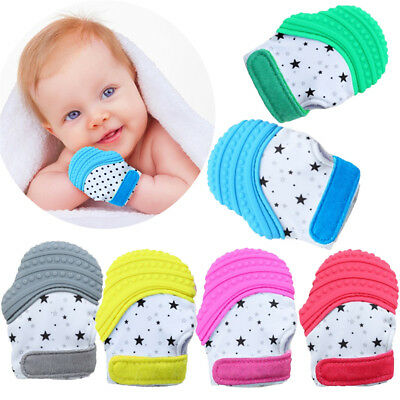Baby Silicone Mitt Teething Mitten Teething Glove Candy Wrapper Sound Teether PQ