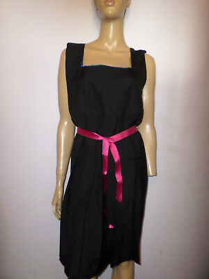 """Black Schoolgirl Pinafore Dress + Boater Hat Size 40"""" Chest"""