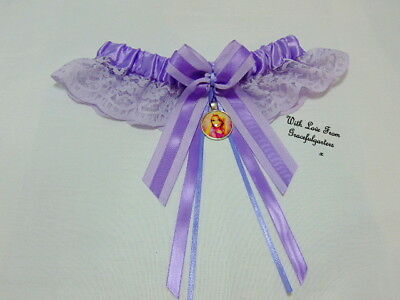 Rapunzel Lilac tangled disney lace Bridal Wedding garter. rupunzel.any colour