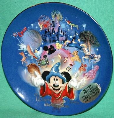 Disney World 4 Parks Collectible Plate Sorcerer Mickey Where Magic Lives New